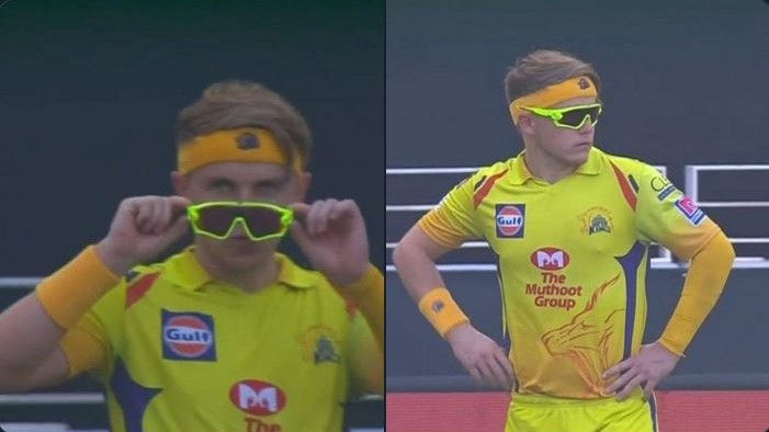 IPL 2020: Sam Curran's hilarious pose with his goggles goes viral; Twitterverse share funny memes