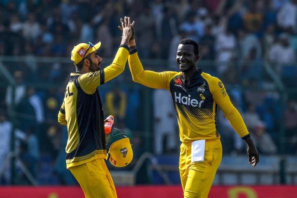 Sammy was seen leading Peshawar Zalmi earlier this year   Getty