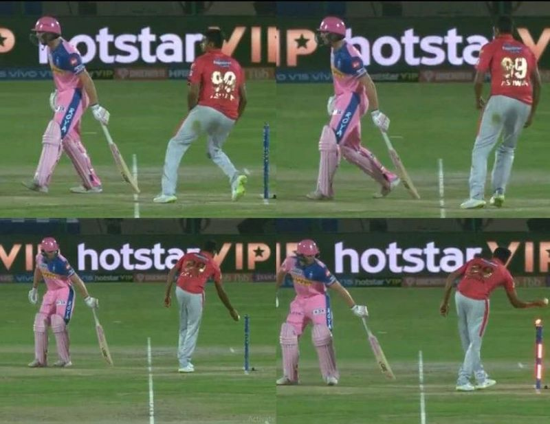 R Ashwin mankads Jos Buttler during IPL 2019