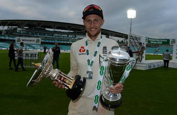 Joe Root with the silverware | Getty