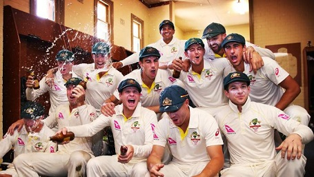 Australia celebrated their 4-0 series win over England in dressing room | Getty Images