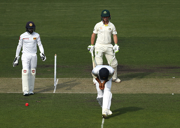 A powerful sweep from Jake Doran hit Mendis in Hobart | Getty Images