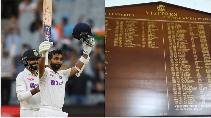 AUS v IND 2020-21: WATCH - Ajinkya Rahane's name goes onto the MCG Honours Board for second time