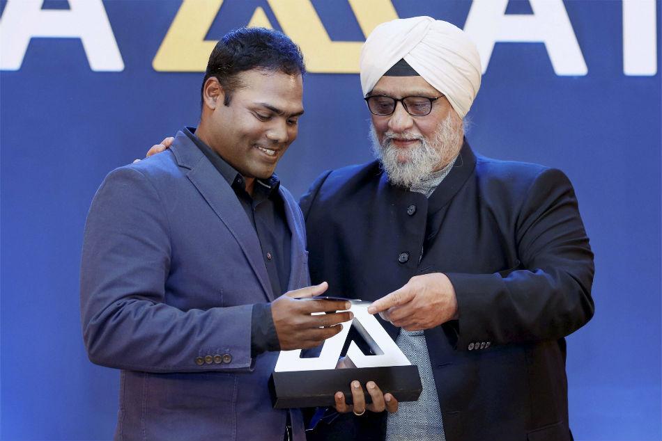 Nitin Menon with Bishan Singh Bedi