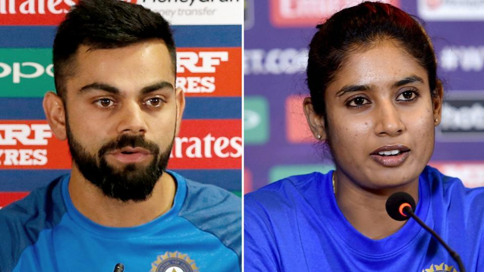 Indian international captains Virat Kohli and Mithali Raj named as Wisden Leading Cricketers in the World