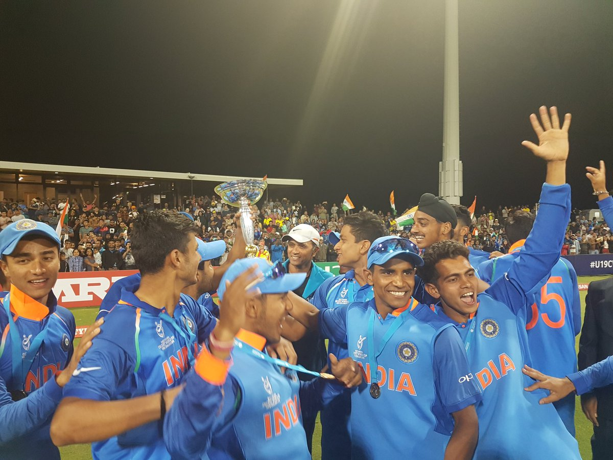 Cricket fraternity goes into celebration mode as India defeats Aus to lift the U19 World Cup for 4th time