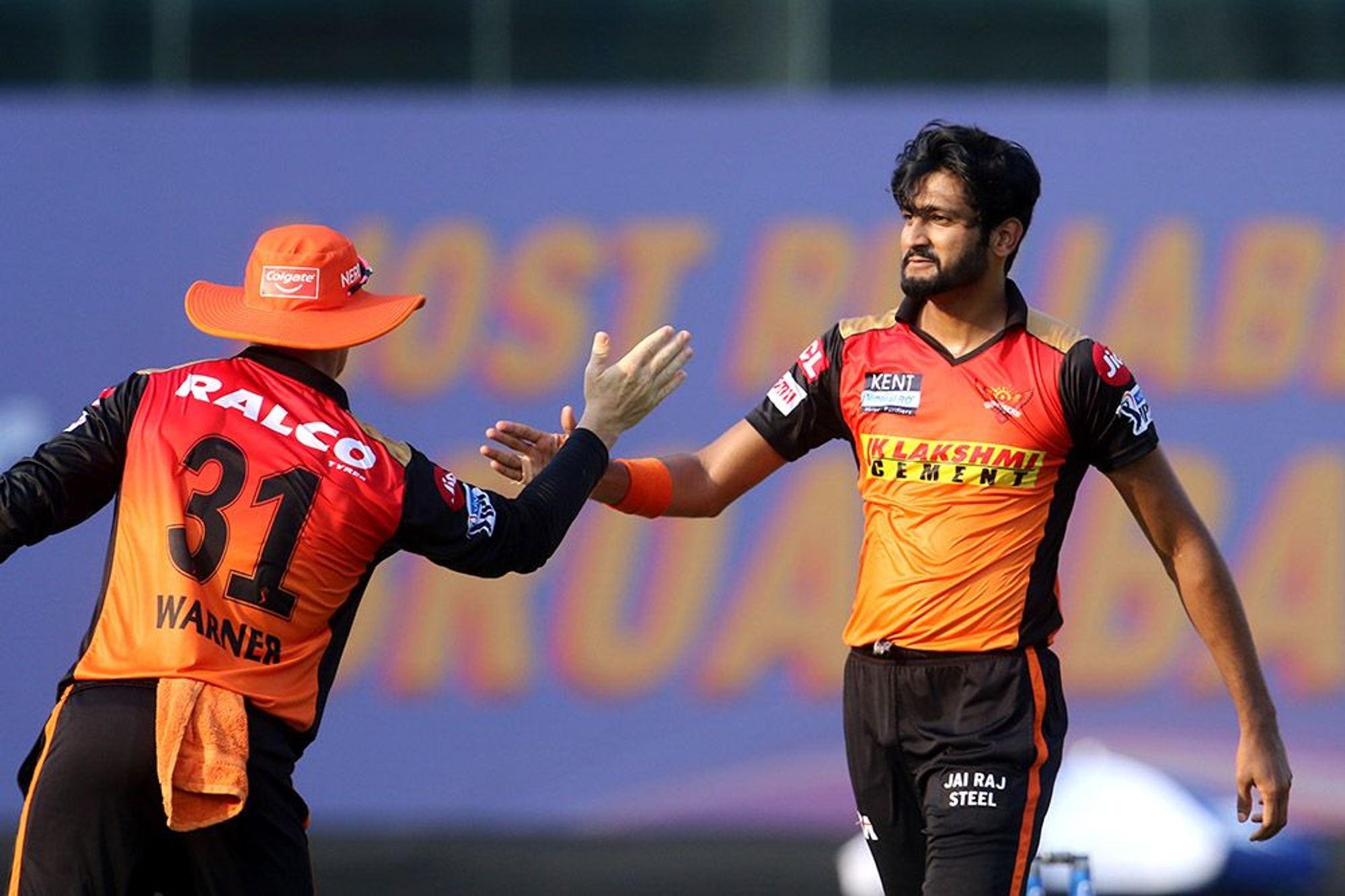 Khaleel Ahmed picked 3/21 for SRH   BCCI-IPL
