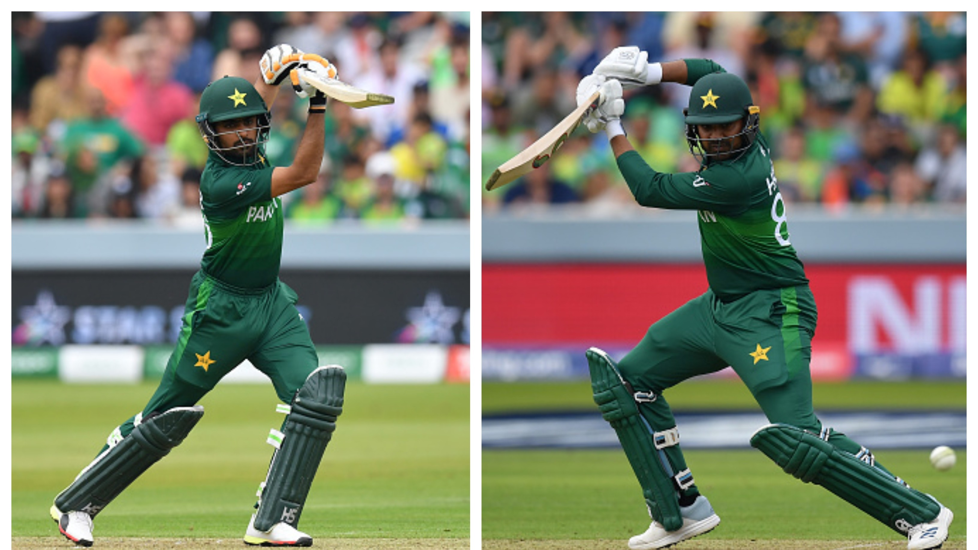 CWC 2019: PAK v SA - Fifties from Babar Azam, Haris Sohail help Pakistan post 308/7 at Lord's
