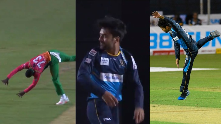 CPL 2020: WATCH - Rashid Khan teases Kevin Sinclair by imitating his somersault celebration