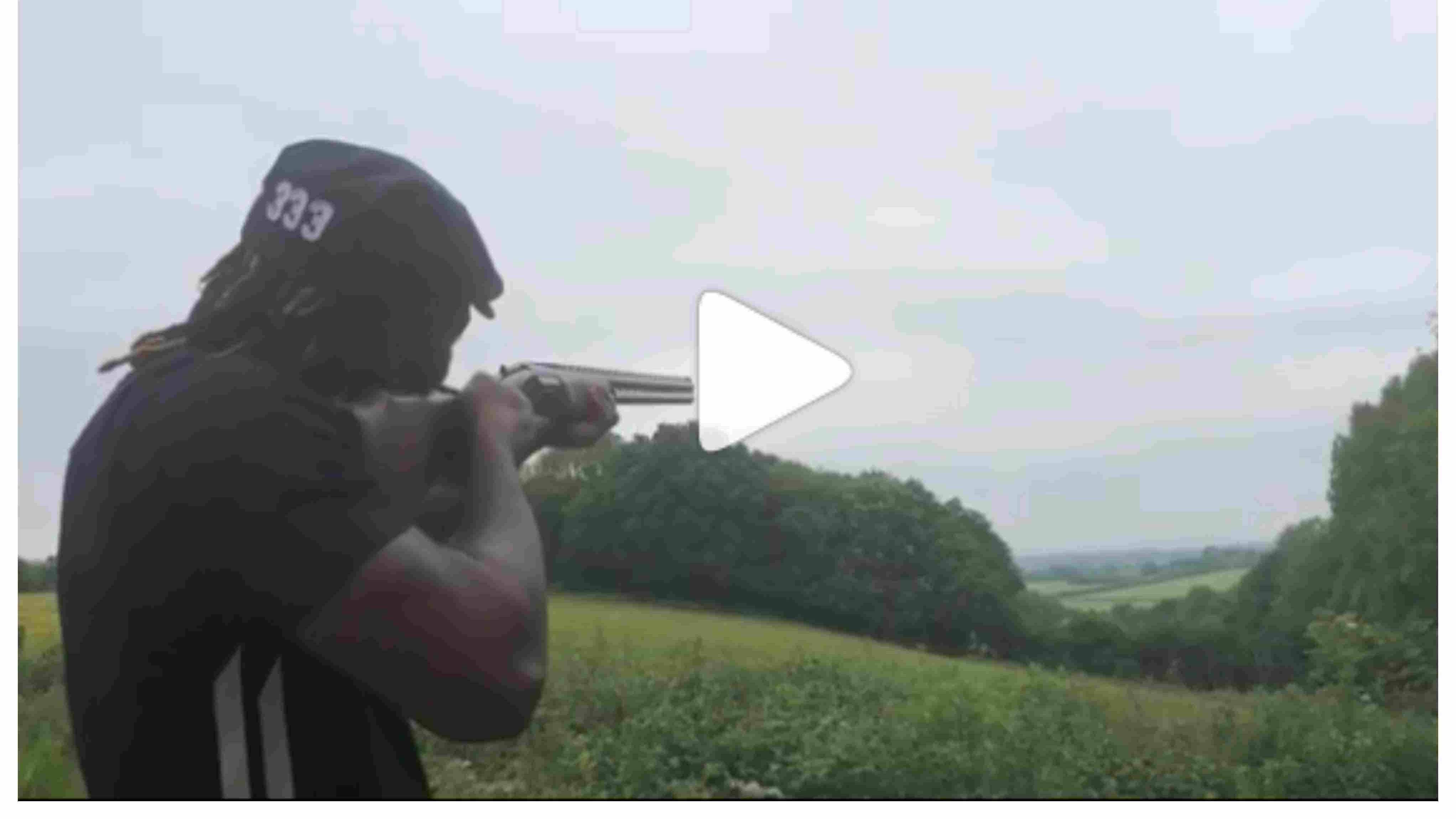 Watch: Chris Gayle tries his hand at skeet shooting