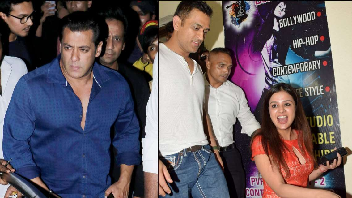 WATCH: MS Dhoni and wife Sakshi Dhoni attends Salman Khan's Race 3 special screening