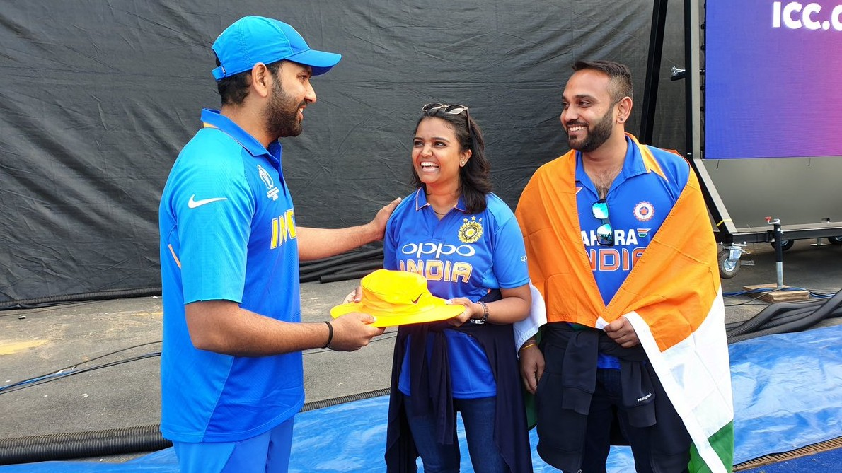 CWC 2019: Twitter loves the moment when Rohit Sharma met the fan who was injured by his six