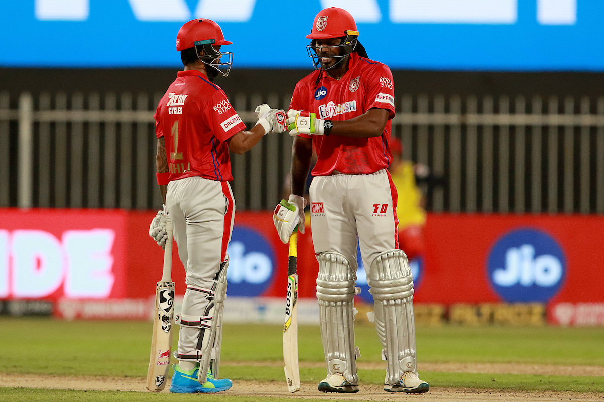 KL Rahul and Chris Gayle have carried KXIP batting along with Mayank Agarwal | BCCI/IPL