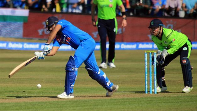 Rohit Sharma scored 97 against Ireland and also completed 10,000 runs in international cricket | AFP