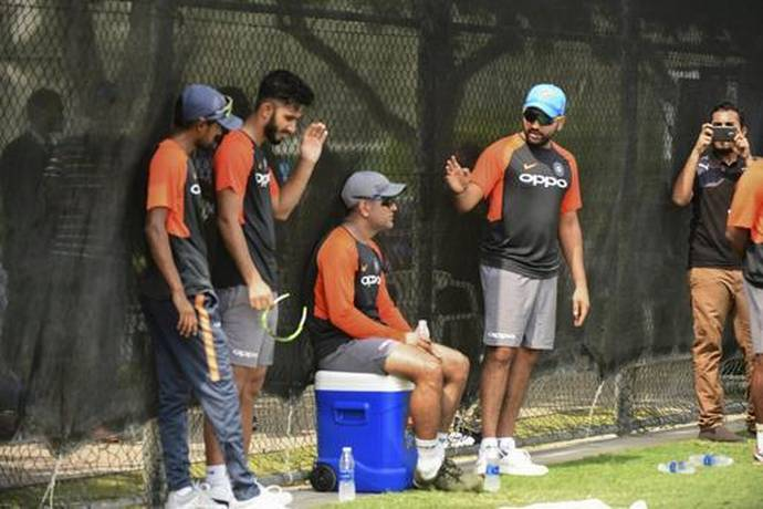 Indian players sweating it out in the nets | PTI
