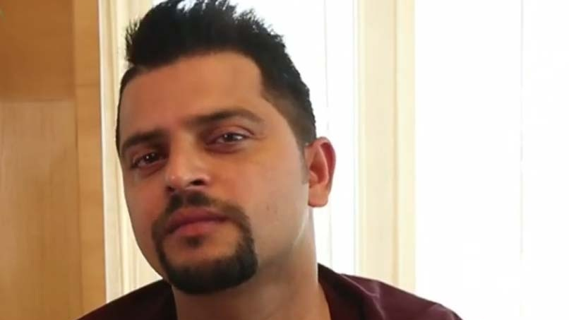 WATCH: Suresh Raina succumbs to the 'Break The Beard' trend