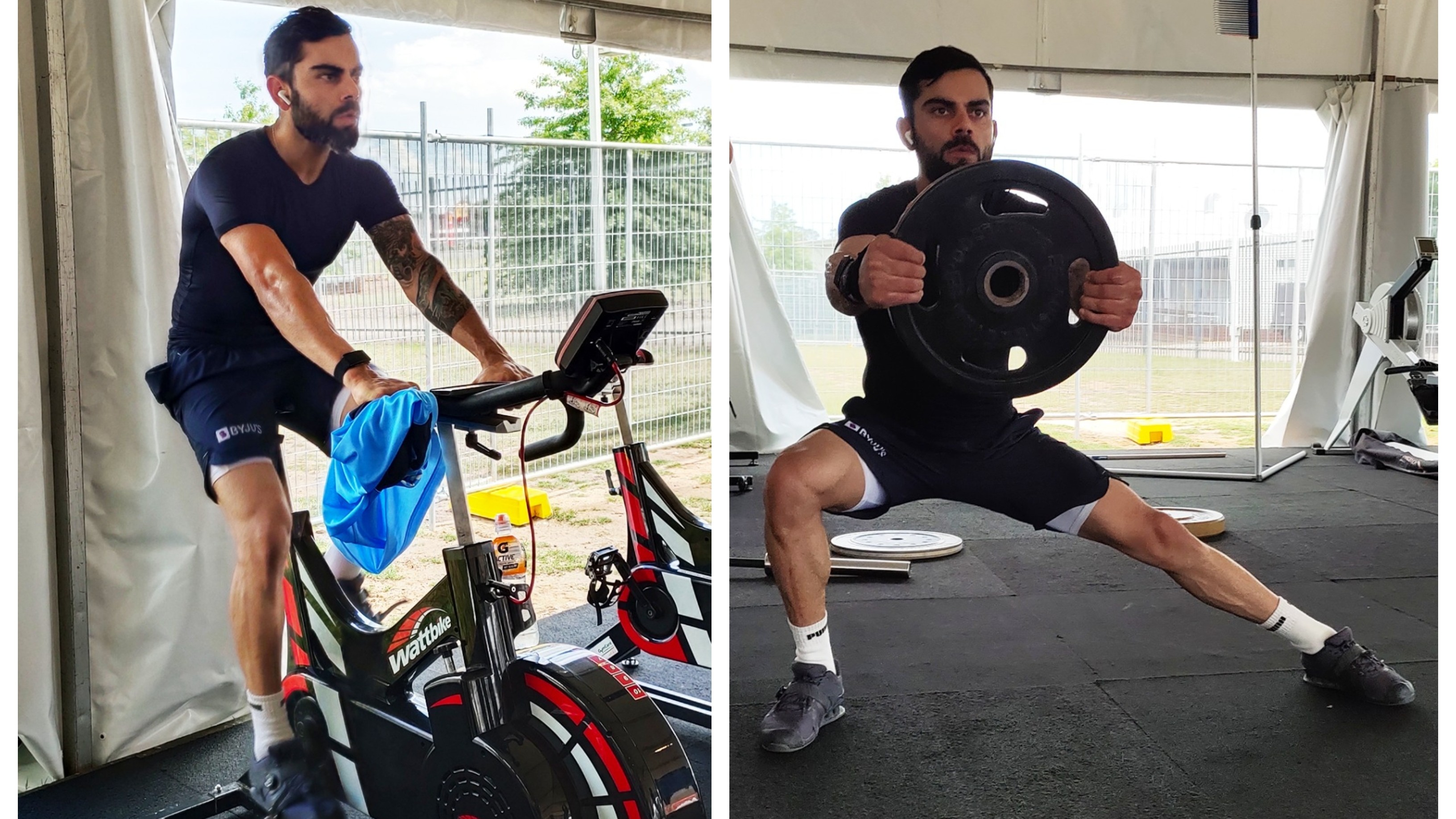 AUS v IND 2020-21: Virat Kohli shares pictures from intense gym workout session