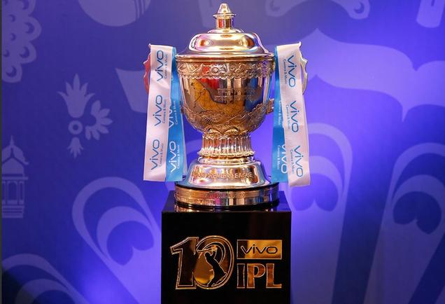 The Vivo IPL 2018 trophy (Pic. courtesy: IPL Twitter)