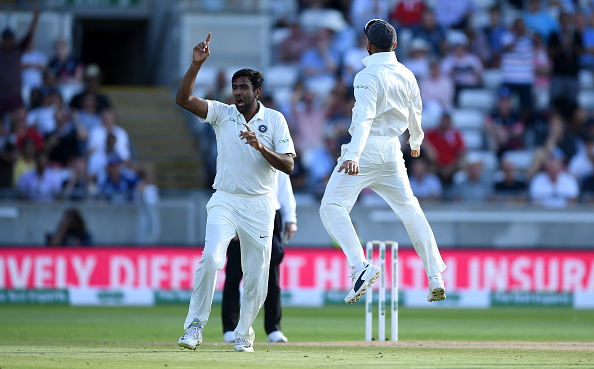 R Ashwin celebrates the wicket of Alastair Cook on the second day of the first Test | Getty