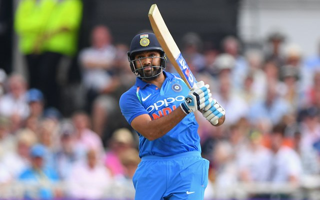 Rohit Sharma was in full flow during the fourth ODI against the West Indies | Getty