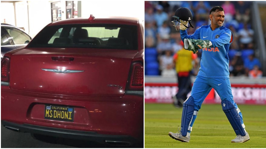A fan pays tribute to MS Dhoni in Los Angeles; CSK shares the picture