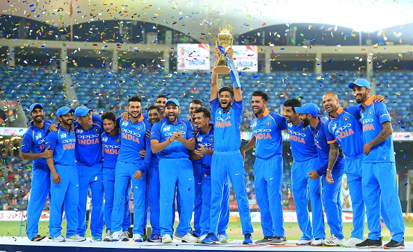 India celebrates their record seventh Asia Cup title win in the UAE | Getty Images