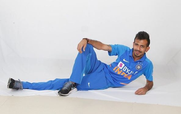Chahal even took a dig at himself by posing like this for official shoot | Twitter