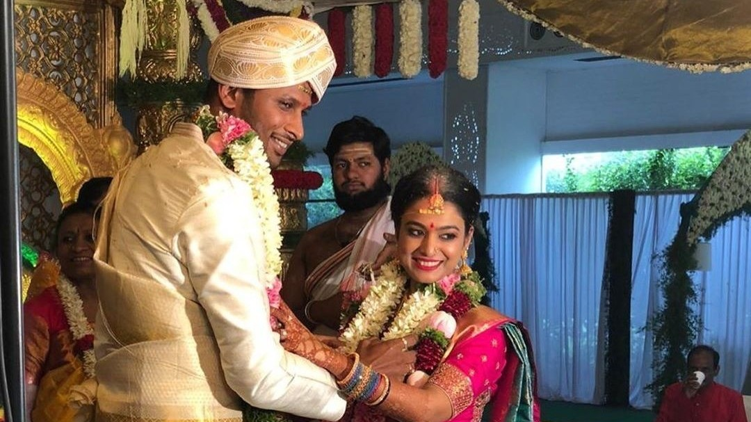 K Gowtham ties wedding knot with Archana Sundar