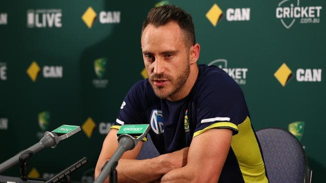 Faf du Plessis during the pre-match press conference | Getty