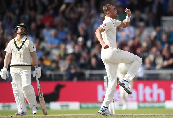 Stuart Broad (R) has made David Warner (L) his bunny | Getty Images