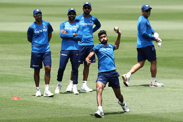 Khaleel Ahmed fields during a training session at SCG | Getty