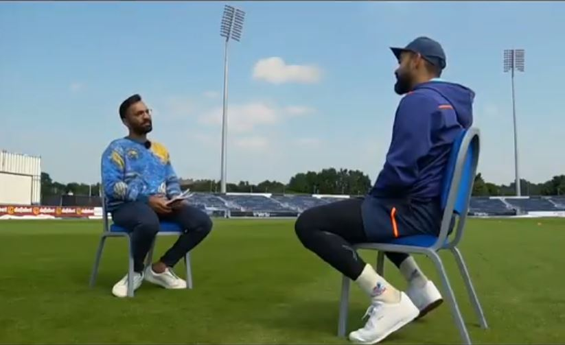 Kohli was speaking on what it takes to win a Test series in England with Dinesh Karthik   Twitter
