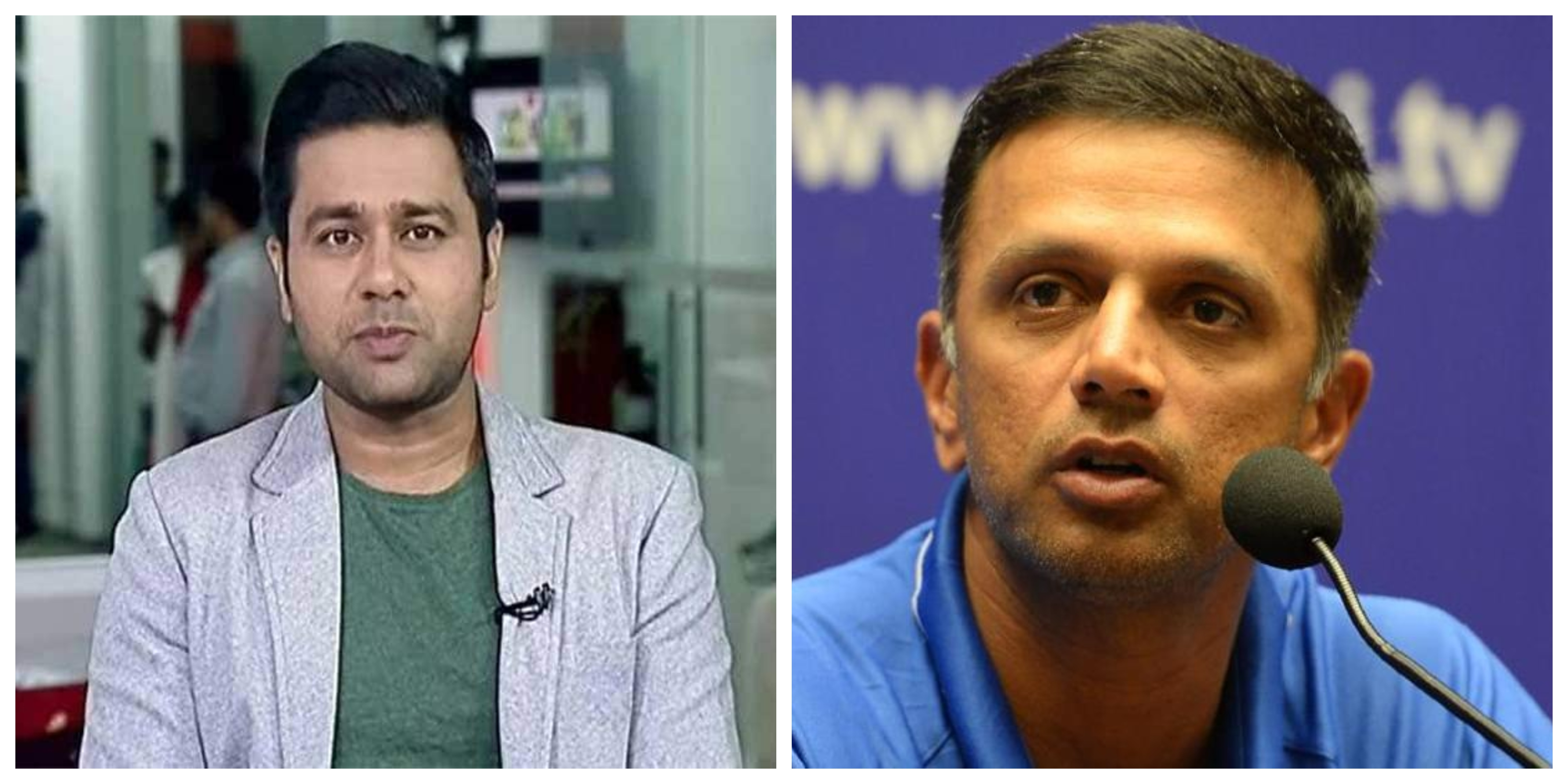 Aakash Chopra and Rahul Dravid