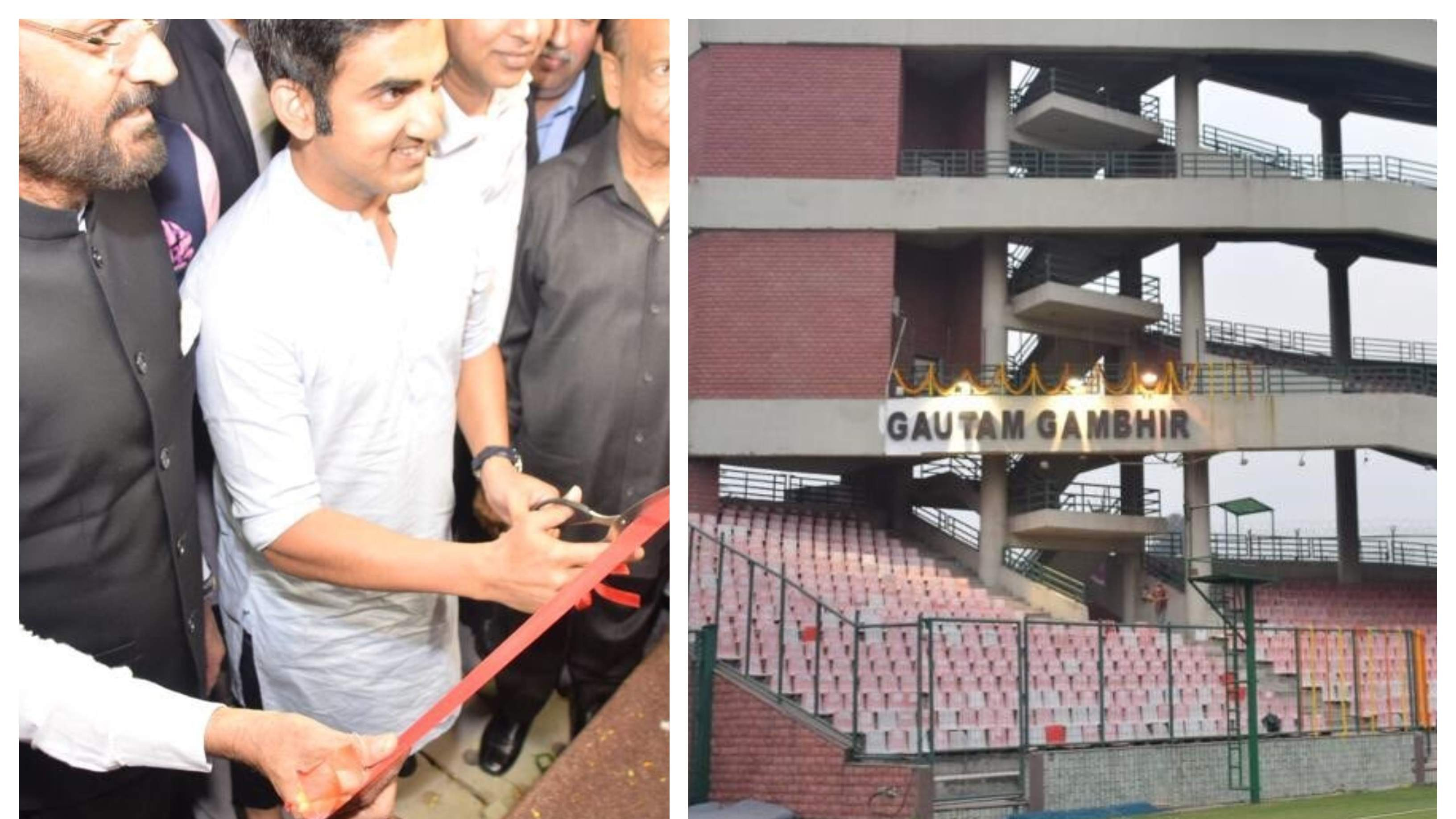 Gautam Gambhir questions DDCA President Rajat Sharma for delay in unveiling stand named after him