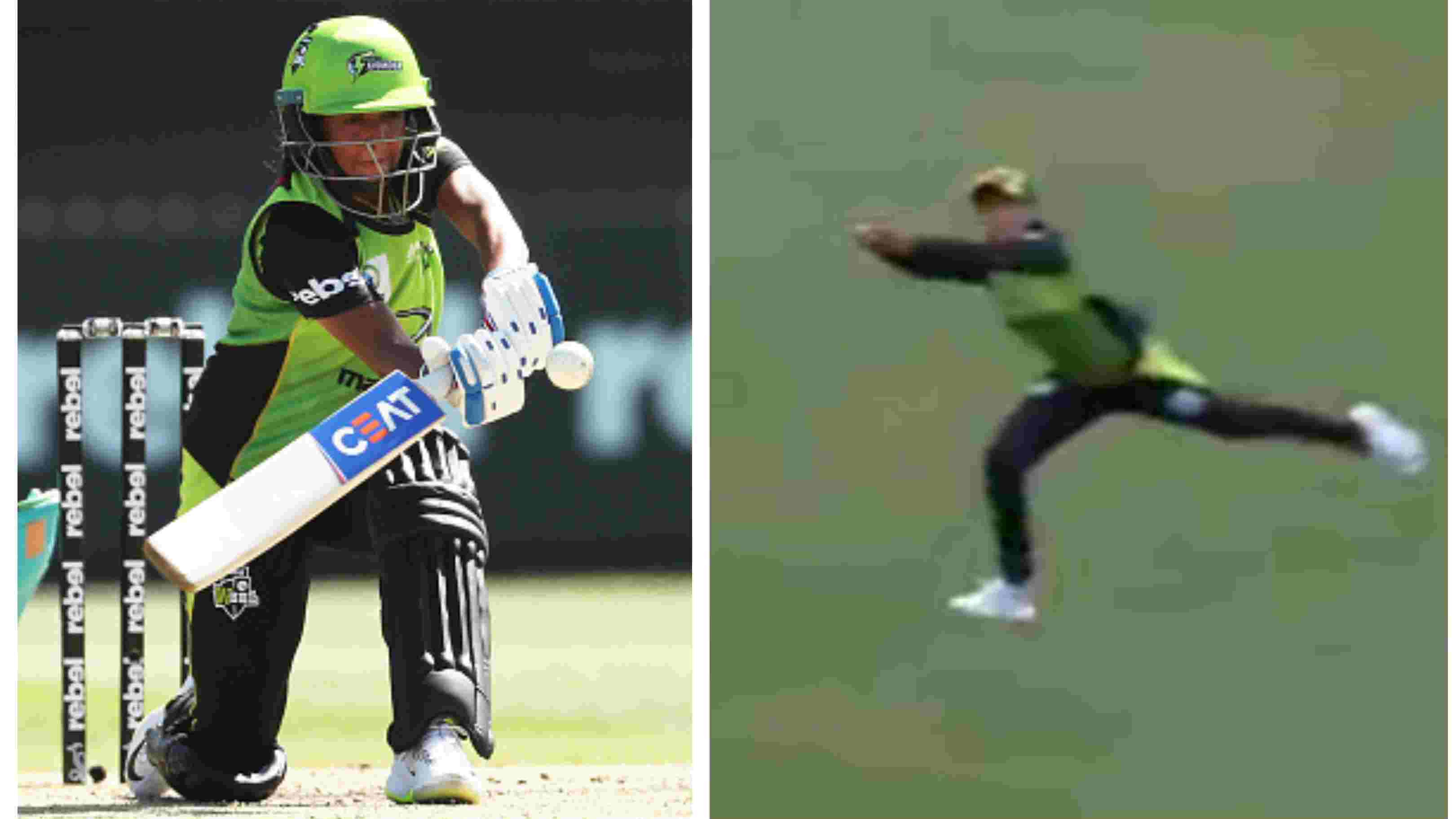 WATCH: Harmanpreet Kaur puts an exhibition with the bat and in the field in Sydney Thunder's win