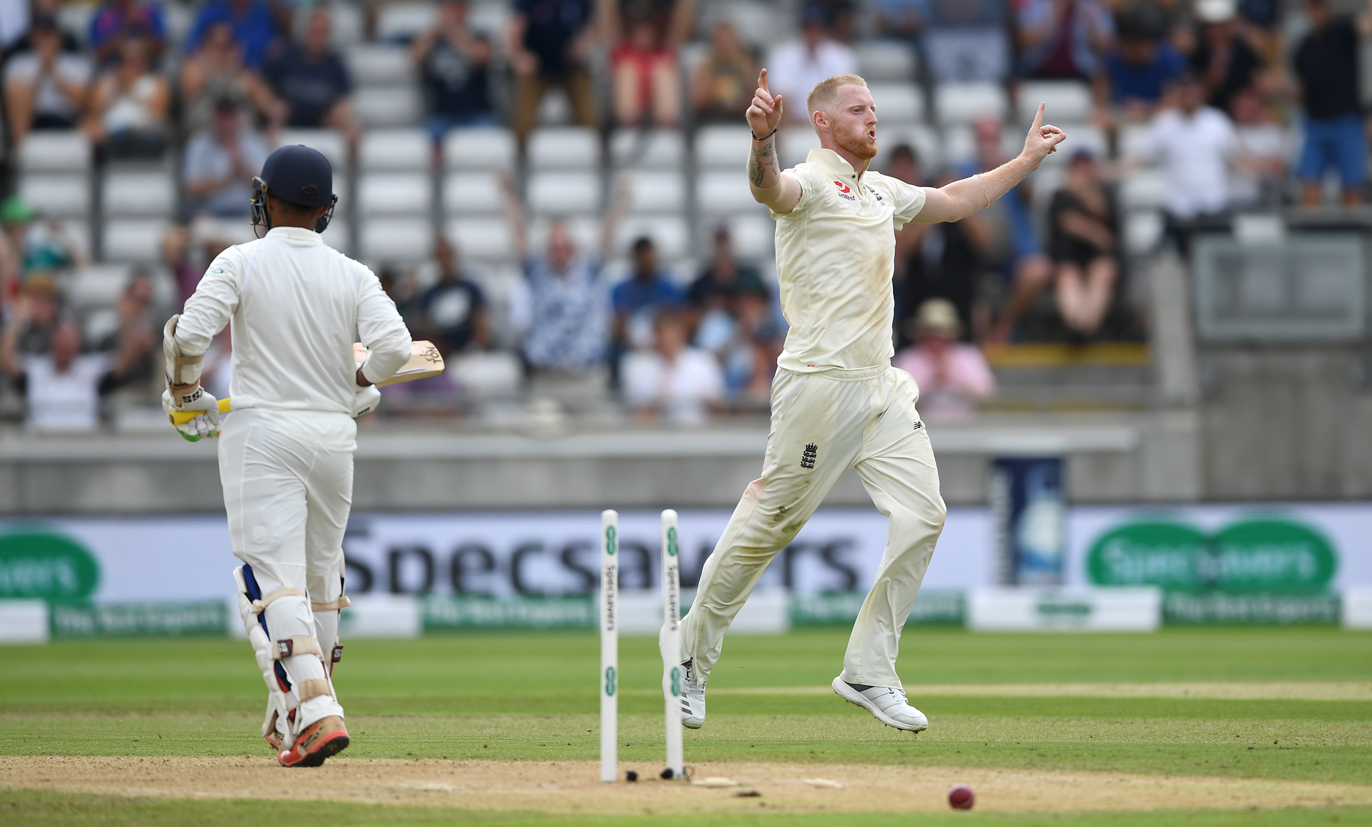 Ben Stokes bowled a brilliant spell on the second day of the Edgbaston Test. (Getty)