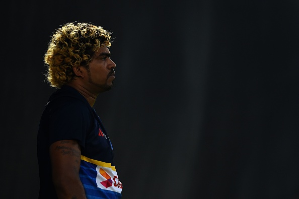 Lasith Malinga at the nets in Dubai | Getty Images