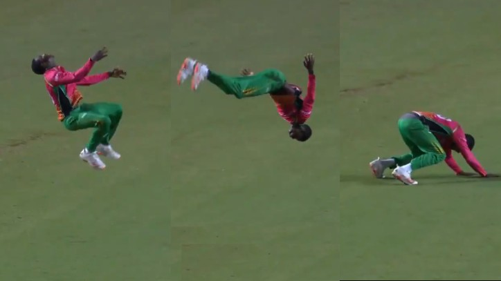 CPL 2020: WATCH - Kevin Sinclair performs somersault and back flips to celebrate a wicket