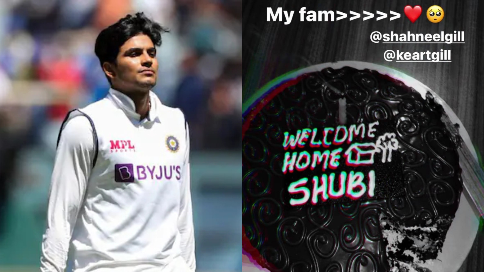 ENG v IND 2021: Shubman Gill's Instagram stories indicate he's back home