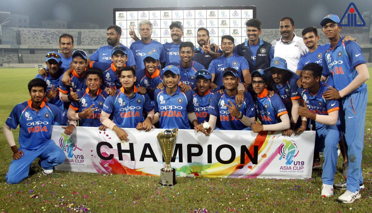 India lifted the U19 Asia Cup for the 6th time | ACC Media Twitter
