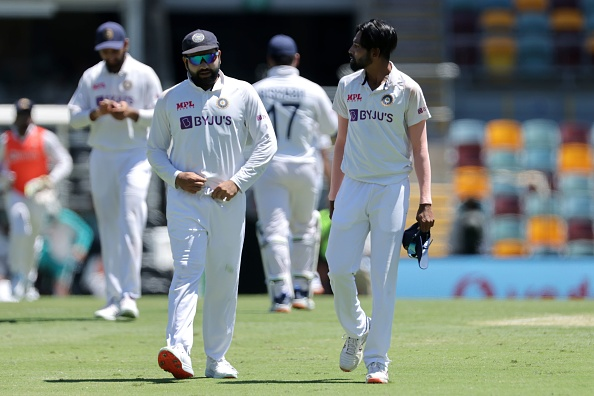 Rohit Sharma and Mohammed Siraj   GETTY