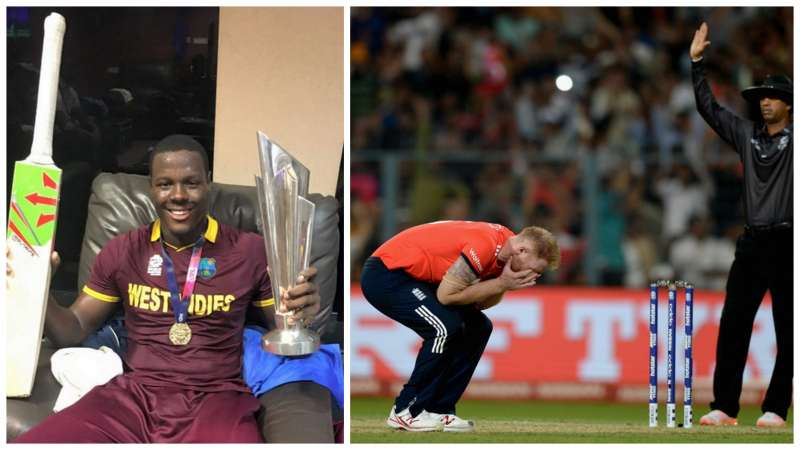 Stokes was inconsolable after being smashed by Brathwaite in the final over of ICC World T20 2016