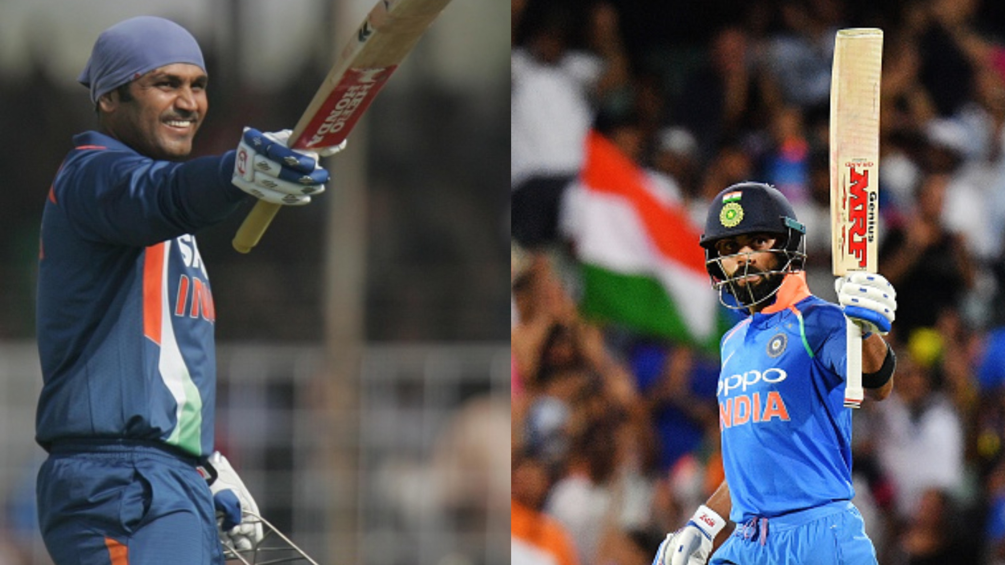 NZ v IND 2019: Virat Kohli on the cusp of breaking Virender Sehwag's multiple records against New Zealand
