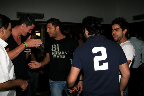 Yuvraj Singh and Kevin Pietersen   GETTY