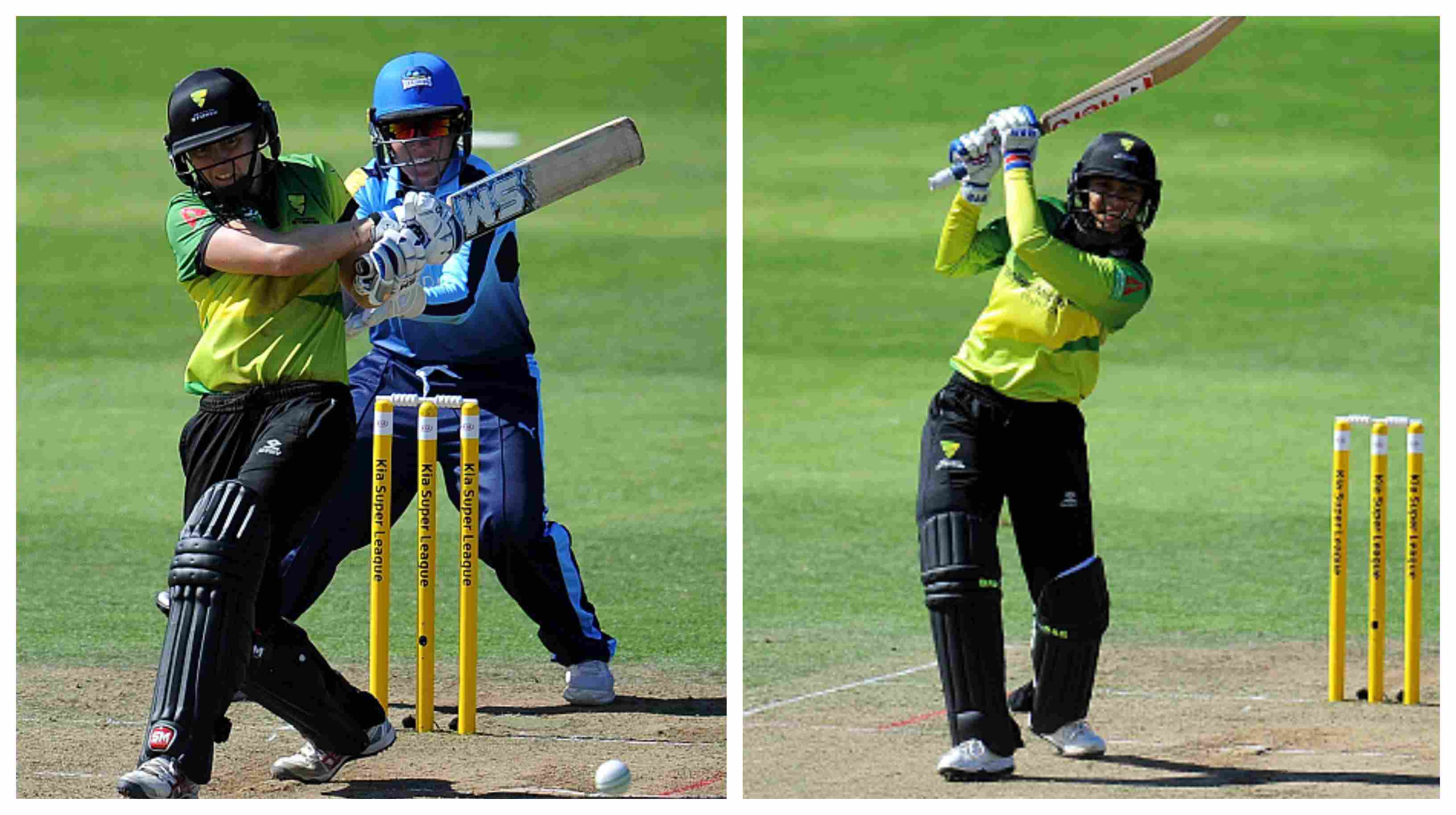 Western Storm's Heather Knight and Smriti Mandhana put on a batting exhibition against Yorkshire Diamonds | Getty