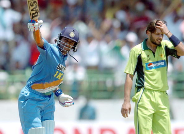 MS Dhoni after his first ODI century   GETTY