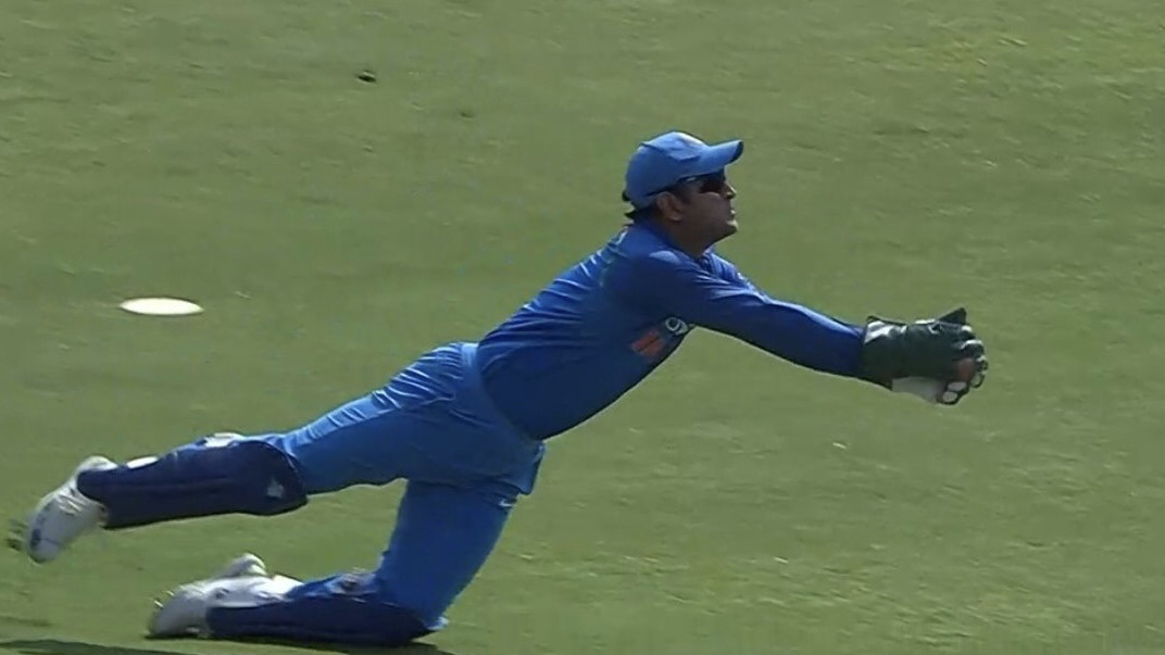 IND v WI 2018: WATCH – MS Dhoni's brilliant running grab to get rid of Chandrapaul Hemraj