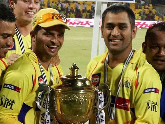 Dhoni and Raina will play for CSK in IPL 2018 (Pic. courtesy: IPL Twitter)
