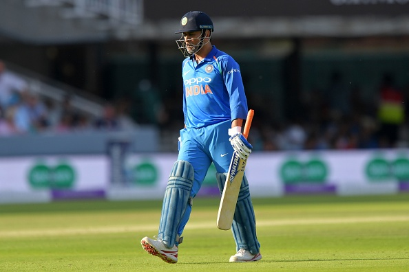 MS Dhoni's slow innings of 37 from 59 balls earned him boos from the Lord's crowd | Getty