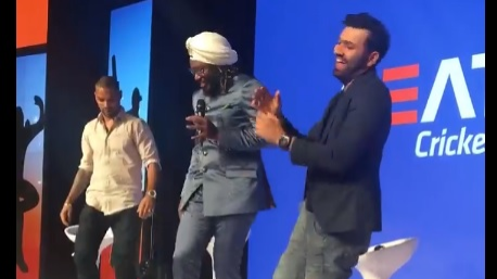 WATCH: Chris Gayle teaches dance moves to Rohit Sharma and Shikhar Dhawan